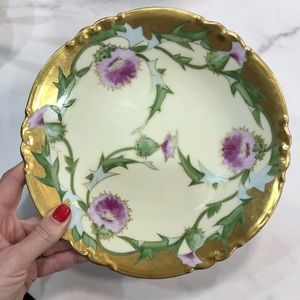 Rare LIMOGES Made in France gold plated plate.